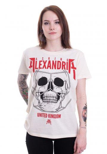 Asking Alexandria - Hexed Skull Natural - T-Shirt