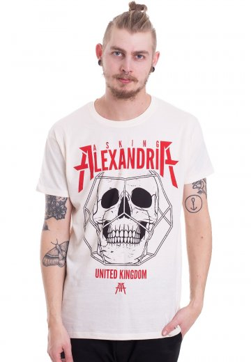 Asking Alexandria - Hexed Skull Natural - T-Shirt