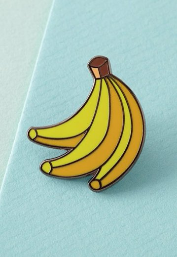 Punky Pins - Bananas Enamel - Pin