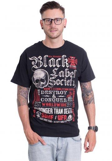 Black Label Society - Destroy   Conquer - Tričko - Oficiální obchod ... da16dab1608