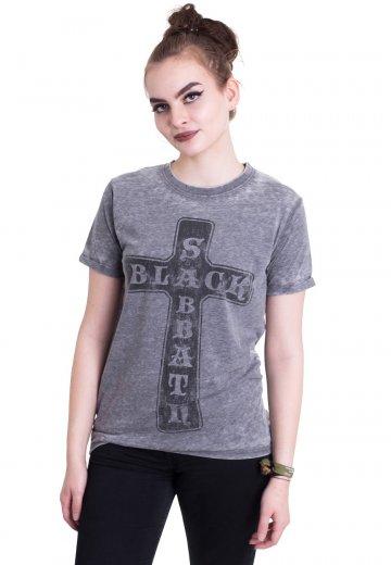 a99da23338 Black Sabbath - Vintage Cross Burnout Grey - T-Shirt - Official Hard Rock  Merchandise Shop - Impericon.com Worldwide