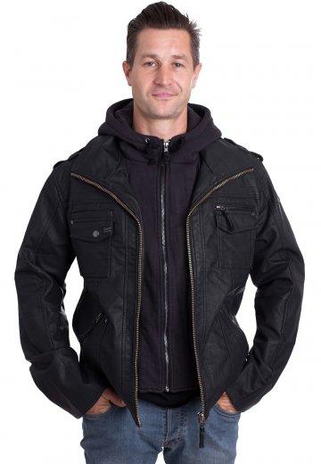 Leather Brandit Black Black Jacket Leather Rock Rock Jacket Brandit Brandit Leather Black Rock bgIf7v6yY