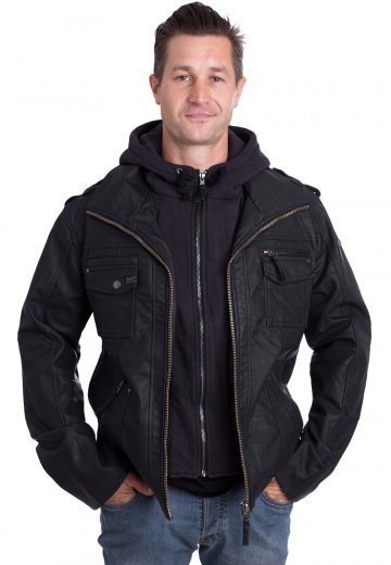 Brandit - Black Rock - Leather Jacket