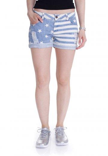 Brandit Denim Hotpants stars+stripes oliv