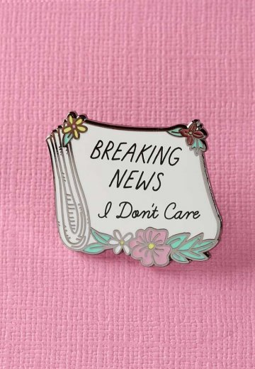 Punky Pins - Breaking News, I Don't Care Paper Enamel - Pin