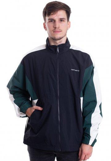 Carhartt WIP Barnes Dark NavyDark FirWax Track Jacket