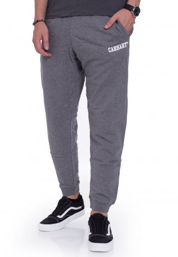 3a4f2680f Carhartt WIP - College Dark Grey Heather White - Calças Fato de ...