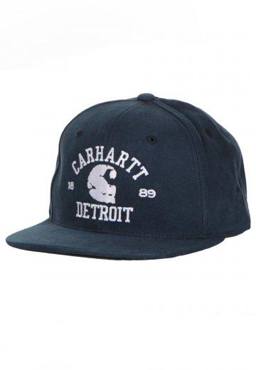9d484da5b55 Carhartt WIP - Detroit Starter Blue Snapback - Cap - Streetwear Shop -  Impericon.com Worldwide