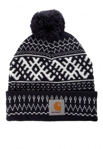 1b1ce6640ba Carhartt WIP - Elias Bobble Navy Snow - Beanie - Streetwear Shop -  Impericon.com AU