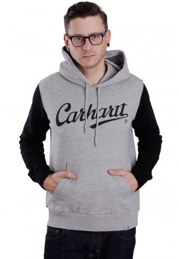 Carhartt WIP - Hooded League Grey Heather/Black - Hoodie