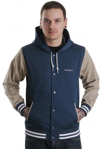 1ce07fd8007 Carhartt WIP - Robson Naval/Stone Beige - Hooded College Jacket ...