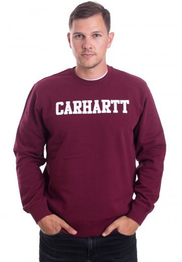 5cfb03a55 Carhartt WIP - College Mulberry/White - Sweater - Streetwear Shop -  Impericon.com AU