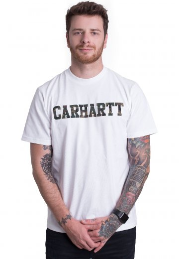designer fashion detailing sneakers for cheap Carhartt WIP - College White/Camo Laurel - T-Shirt