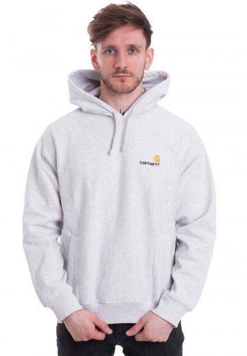 Carhartt WIP - Hooded American Script Ash Heather - Hoodie