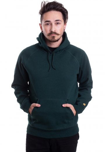 Carhartt WIP - Hooded Chase Bottle Green/Gold - Hoodie