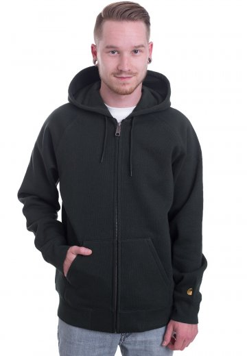 8daa5caf Carhartt WIP - Hooded Chase Loden/Gold - Zipper - Streetwear Shop -  Impericon.com UK