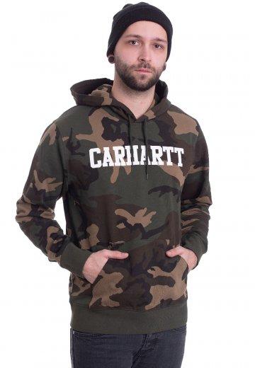 Carhartt WIP - Hooded College Camo Laurel/White - Hoodie