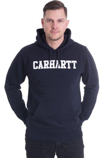 e3722c8e4f4 Carhartt WIP - Hooded College Dark Navy White - Hoodie - Streetwear ...