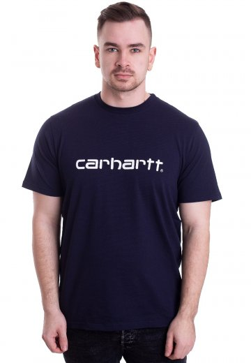 Carhartt WIP - Script Dark Navy/White - T-Shirt