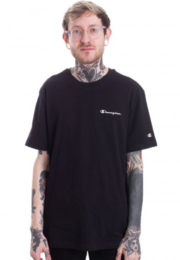 49b00b948ff0 Champion - Crewneck Script New Black - T-Shirt - Streetwear Shop -  Impericon.com UK