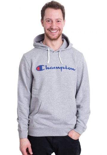 4fbc7a55d58838 Champion - Hooded Grey Melange Light - Hoodie - Streetwear Shop -  Impericon.com UK