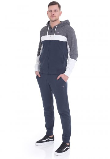 3c416d4d Champion - Hooded Full Zip Insignia Blue/Grey Melange Dark/White -  Tracksuit ...