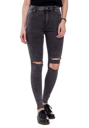 Cheap Monday - High Spray Slash Black - Jeggings