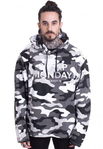 2bcf979ab Cheap Monday - Pullover 2 Hood After Camo L - Hoodie - Impericon.com UK