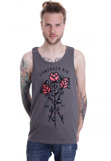 Comeback Kid - Roses Charcoal - Tank