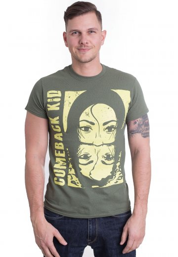 Comeback Kid - Two Face Military Green - T-Shirt