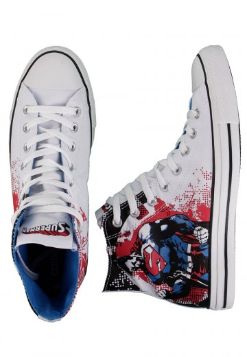 e7ead7b5374ee1 Converse - All Star Comic Hi Tex White Red - Shoes - Impericon.com UK