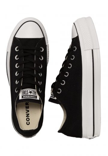 Converse - Chuck Taylor All Star Lift Ox Black/White/White/Black - Girl Shoes