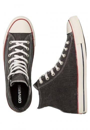 215f40d02ffc Converse - Chuck Taylor All Star Hi Black Black White - Shoes -  Impericon.com US