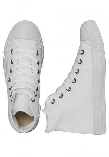 61a189635250 Converse - Chuck Taylor All Star Hi White Monochrome - Girl Shoes -  Impericon.com Worldwide