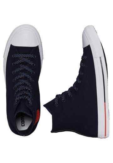 Converse - Chuck Taylor All Star Hi Obsidian/White/Signal Red - Shoes
