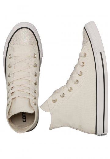 Converse Chuck Taylor All Star Hi Oil Slick ParchmentBlackWhite Girl Shoes