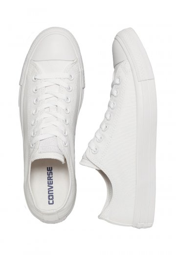 05a0bb3e579 Converse - Chuck Taylor All Star SP Ox Monochrome White White Silver - Shoes  - Impericon.com Worldwide