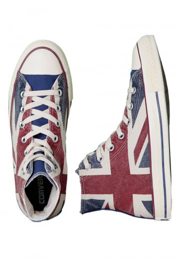 e84cd9106c55 Converse - CT All Star Union Jack Hi UK Flag Distressed - Girl Shoes -  Impericon.com Worldwide