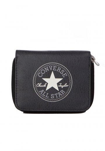 Details about CONVERSE WALLET PURSE CHUCK TAYLOR ALL STAR ZIP CLOSURE IN BLACK NEW