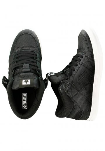 bf71e359673c Converse - Rune Pro Mid Can Black White - Shoes - Impericon.com Worldwide