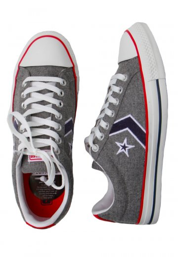 b2e1c00fcc74 Converse - Star Player EV OX Grey - Shoes - Impericon.com UK