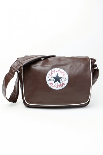 78a53c5520d2 Converse - Vintage Patch Shoulder Chocolate Brown - Bag - Impericon.com UK