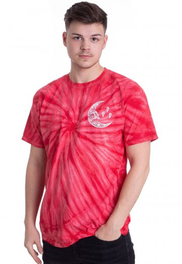 Currents - Moon Red Tie Dye - T-Shirt
