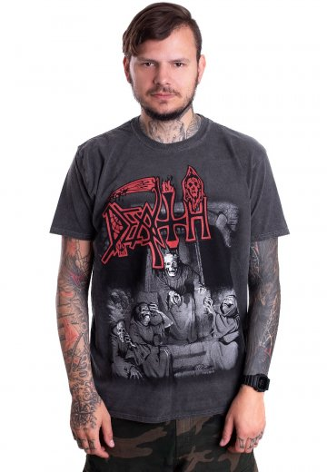 e88cad61e97be2 Death - Scream Bloody Gore Vintage Wash - T-Shirt - Official Death Metal  Merchandise Shop - Impericon.com US