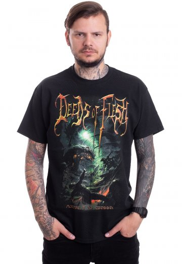 Deeds Of Flesh - Portals To Canaan Cover - T-Shirt