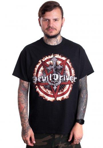 DevilDriver - Pentagramm Cross - T-Shirt