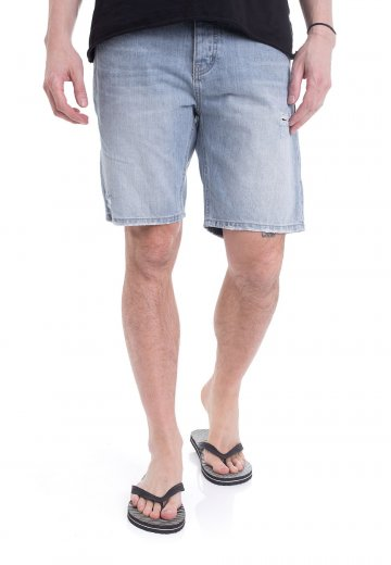 c9fb17ed85 Dr. Denim - Bay Light Blue Ripped - Shorts - Streetwear Shop ...