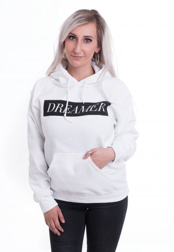 Dream On, Dreamer - Statement White - Hoodie