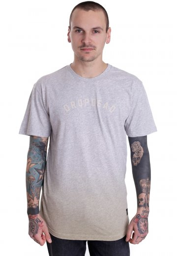 Drop Dead - Sleet Grey/White - T-Shirt
