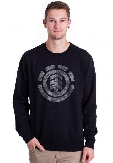 Element - Bark Logo Crew Flint Black - Sweater